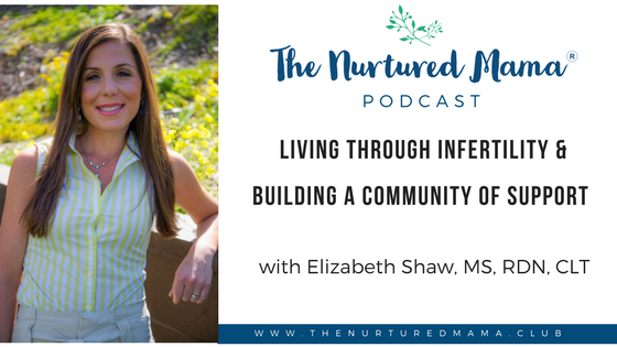 Episode 010: Living Through Infertility & Building a Community of Support with Elizabeth Shaw, MS, RDN, CLT