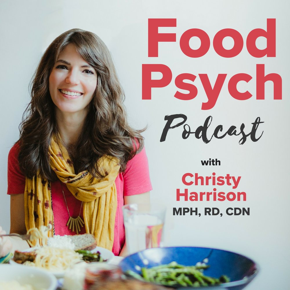 logo for food psych podcast