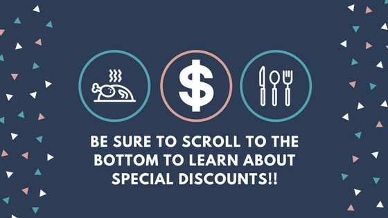 graphic advertising special discounts on meal planning software
