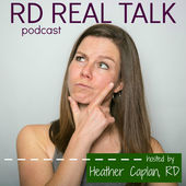 graphic for lindsay stenovecs interview on the RD Real Talk Podcast
