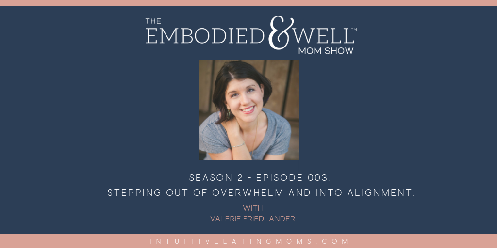 Valerie Friedlander Embodied and Well Show graphic