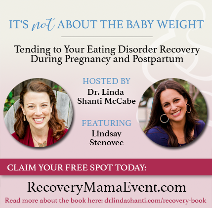 "Graphic advertising Lindsay Stenovec's interview for ""It's Not About The Baby Weight"" Online Summit."
