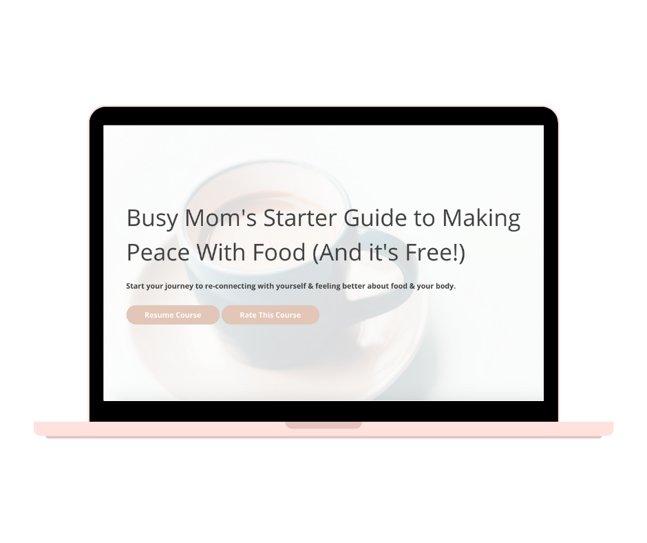 Free course - help with intuitive eating for moms
